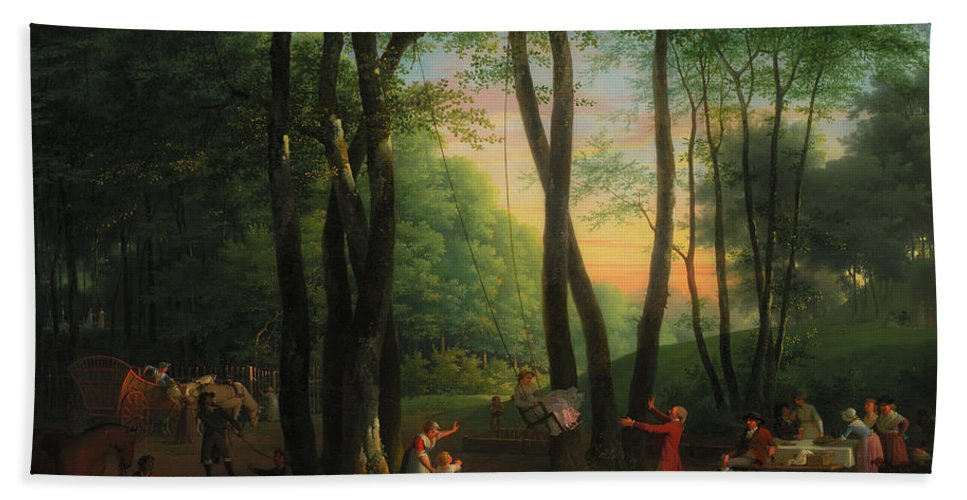 Painting Beach Towel featuring the painting The Dancing Glade At Sorgenfri by Mountain Dreams
