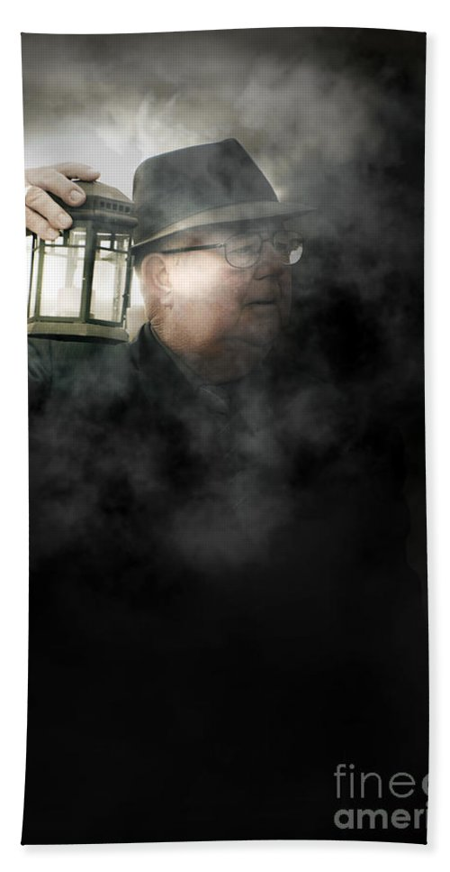 Person Beach Towel featuring the photograph The Dead Of Night by Jorgo Photography - Wall Art Gallery
