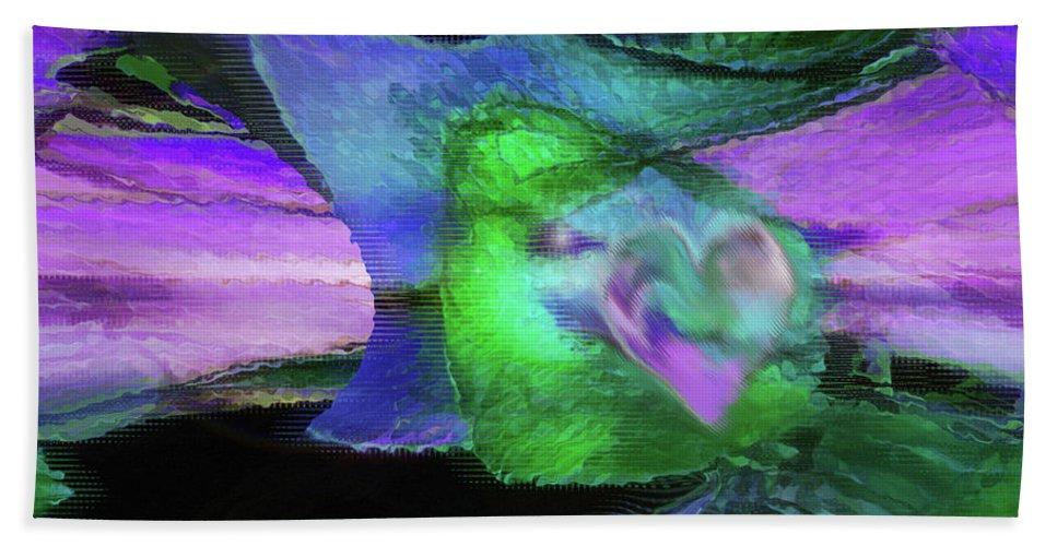 Divine Presence Art Beach Towel featuring the digital art The Divine Presence by Linda Sannuti