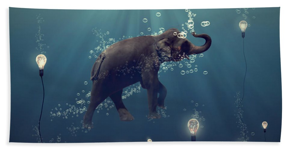 Elephant Beach Towel featuring the photograph The Dreamer by Martine Roch