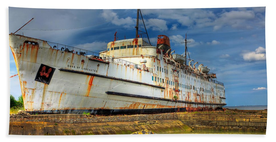 Hdr Beach Towel featuring the photograph The Duke by Adrian Evans