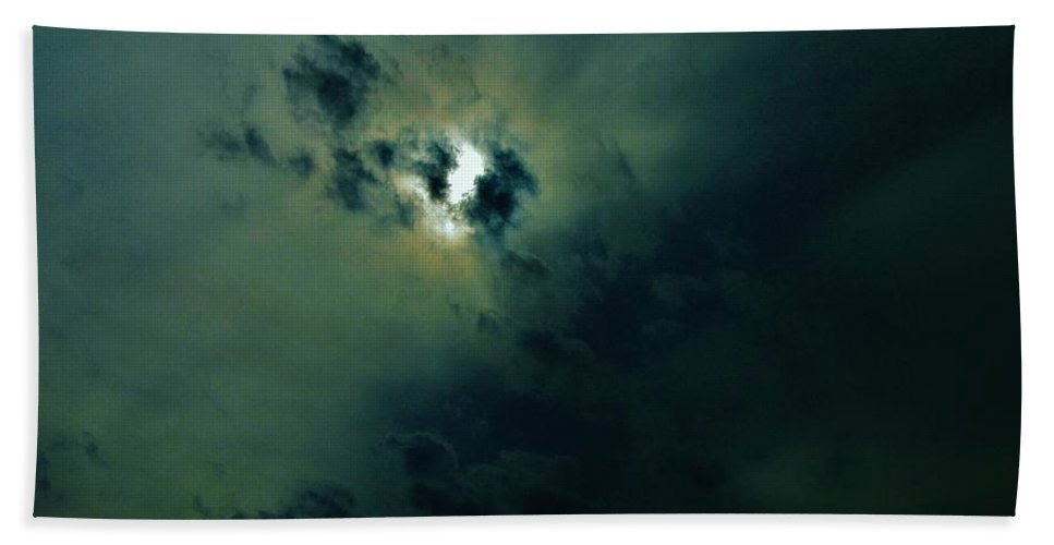 Clouds Beach Towel featuring the photograph The Eerie Sky by Michael Potts
