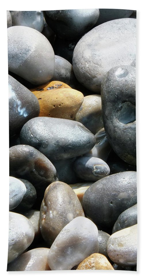 Stones Beach Towel featuring the photograph The Egg by Laura Hologram