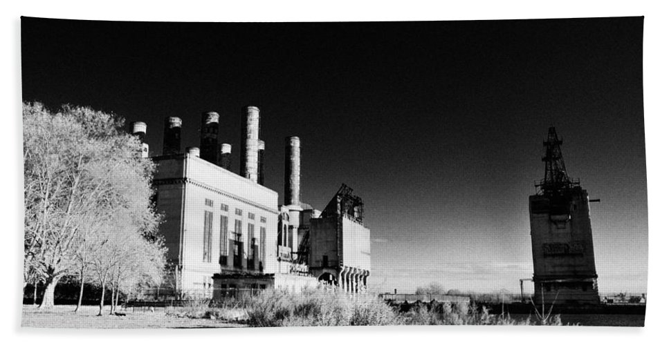 Electric Company Beach Towel featuring the photograph The Electric Company by Bill Cannon