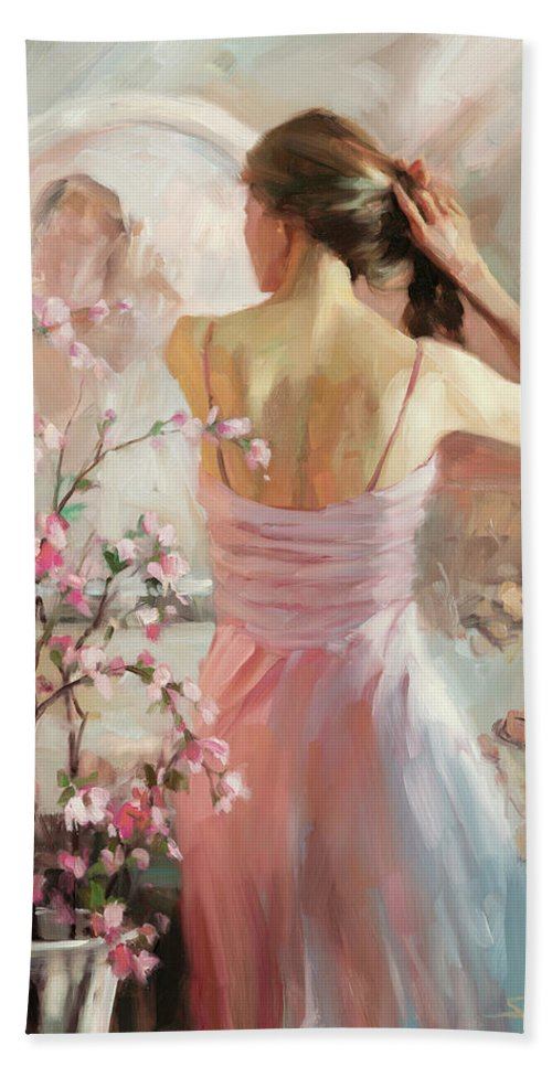 Woman Beach Towel featuring the painting The Evening Ahead by Steve Henderson