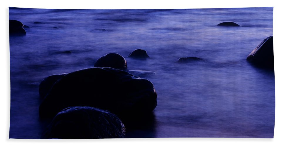 Abstract Beach Towel featuring the photograph The Evening by Konstantin Dikovsky