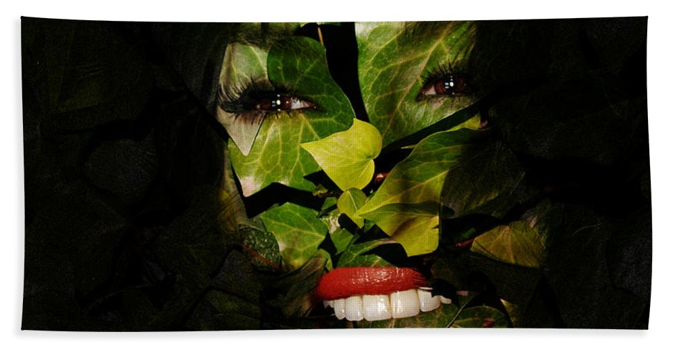 Clay Beach Sheet featuring the photograph The Eyes Of Ivy by Clayton Bruster