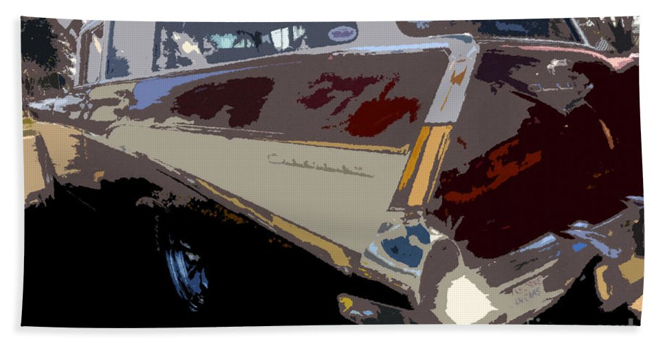 Art Beach Towel featuring the painting The Family Wagon by David Lee Thompson