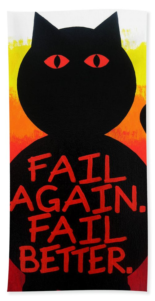 Abstract Beach Towel featuring the painting The Fearline Of Failure by Oliver Johnston