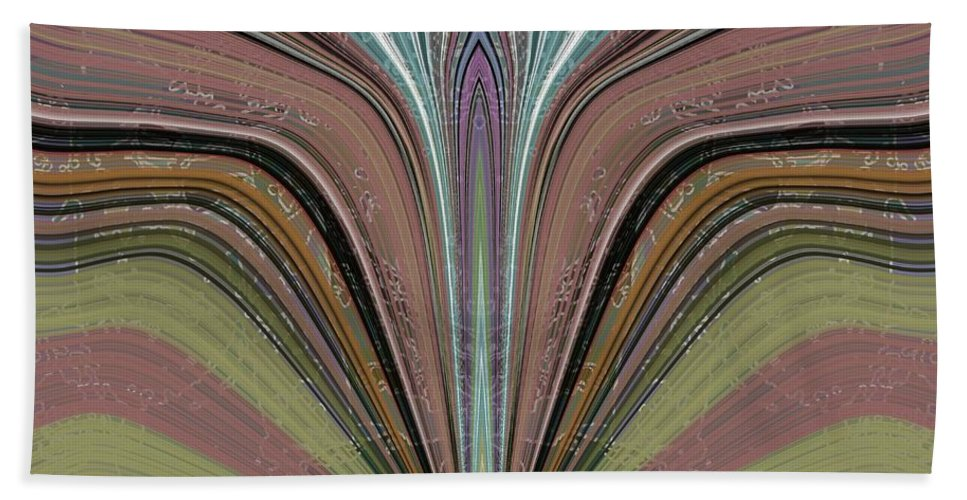 Abstract Beach Towel featuring the digital art The Flame by Tim Allen