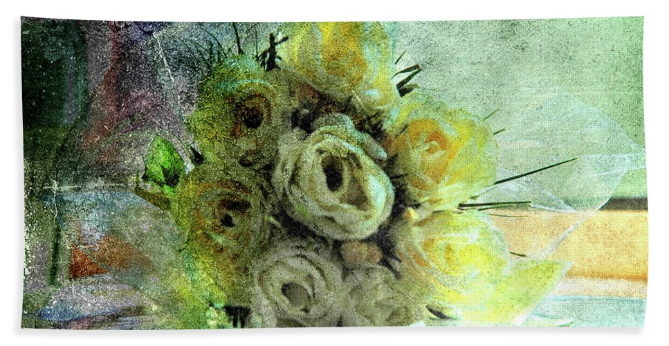 Forgotten Flowers Beach Towel featuring the photograph The Forgotten Flowers by Susanne Van Hulst
