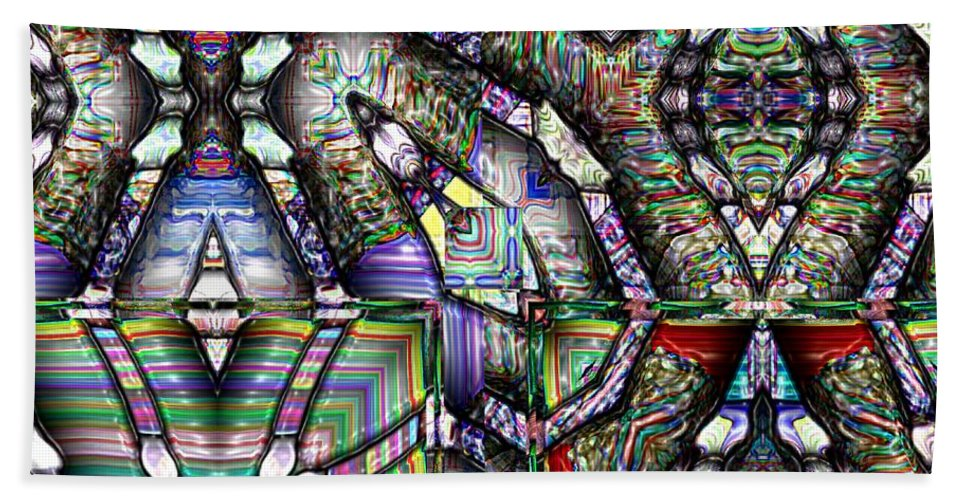 Abstract Beach Sheet featuring the painting The Four Horsemen Of The Apocalypse by RC deWinter