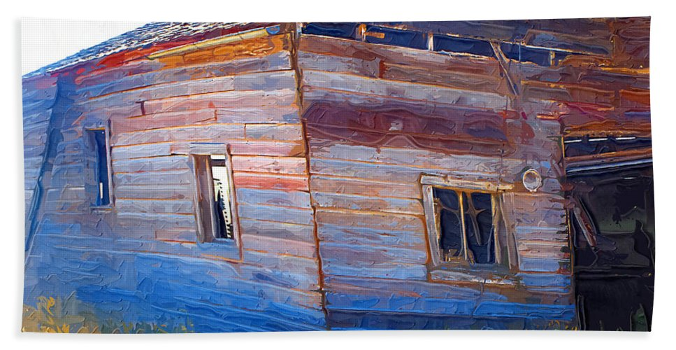 Window Beach Towel featuring the photograph The Garage by Susan Kinney