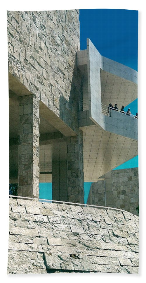 Architecture Beach Sheet featuring the photograph The Getty Panel Three From Triptych by Steve Karol