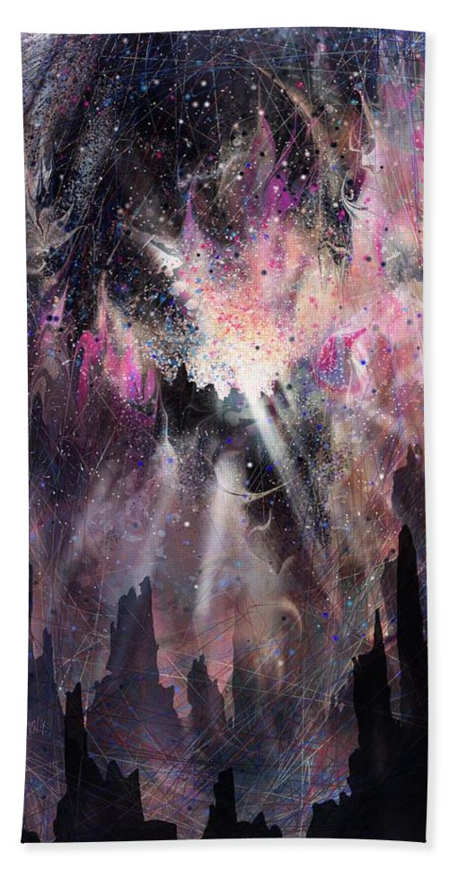 Landscape Beach Towel featuring the digital art The Gift by William Russell Nowicki