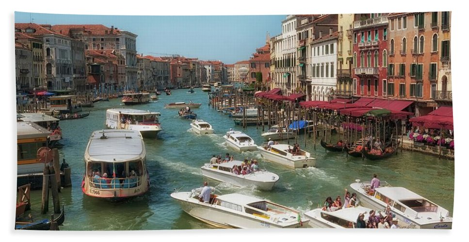 Venice Beach Towel featuring the photograph The Grand Canal Venice by Leighton Collins