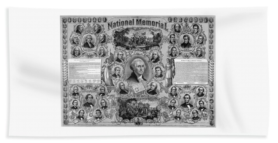 American History Beach Towel featuring the mixed media The Great National Memorial by War Is Hell Store