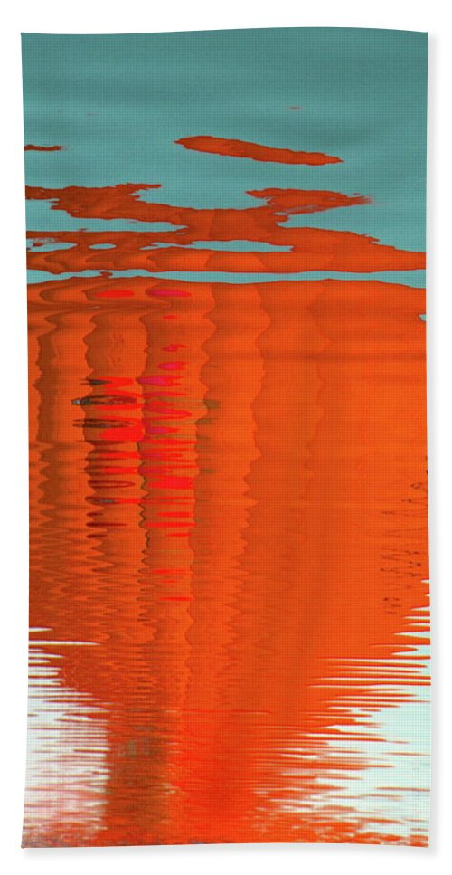 Orange Beach Towel featuring the photograph Reflections by M Pace