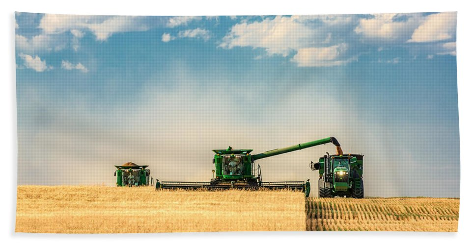 Ombine Beach Towel featuring the photograph The Green Machines by Todd Klassy