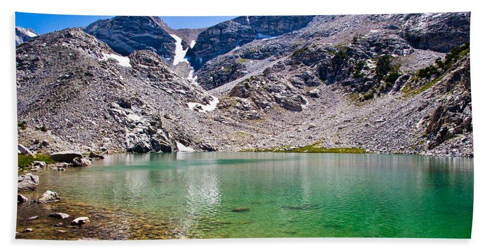 Treasure Lake Beach Towel featuring the photograph The Green Of Treasure Lake 3 by Chris Brannen