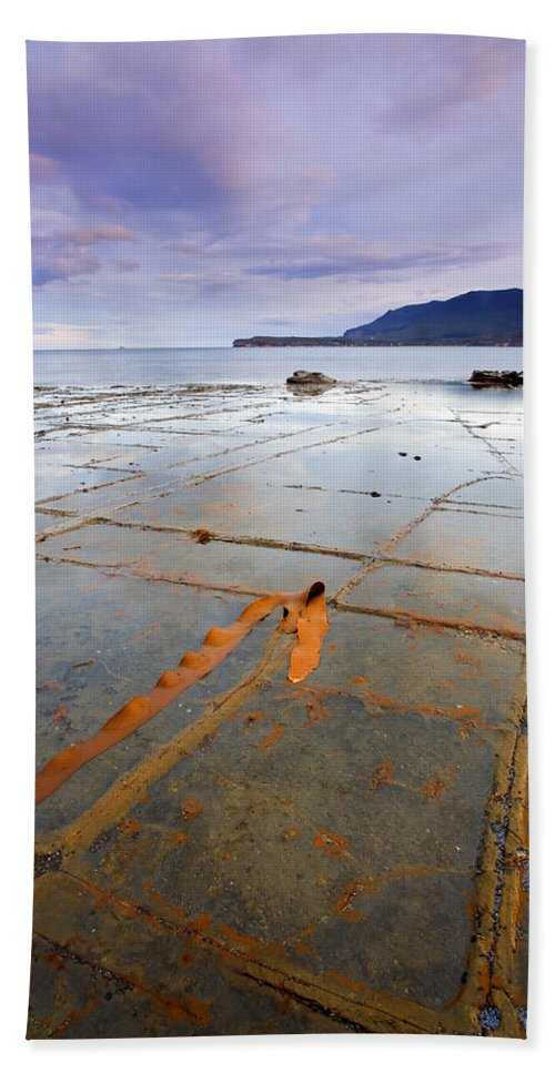 Tesselated Pavement Beach Towel featuring the photograph The Grid by Mike Dawson