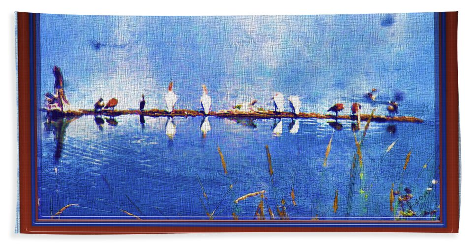 Birds Beach Towel featuring the photograph The Hangout by Susan Kinney