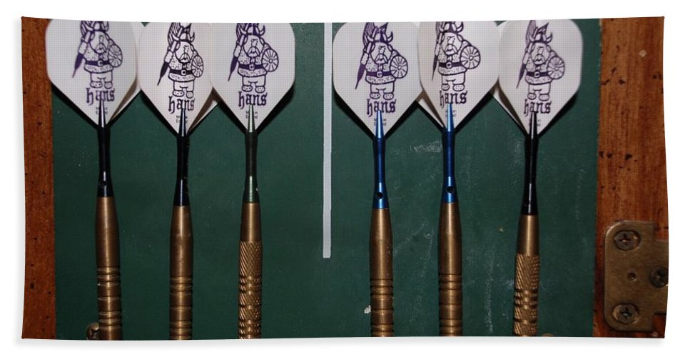Macro Beach Towel featuring the photograph The Hans Darts by Rob Hans