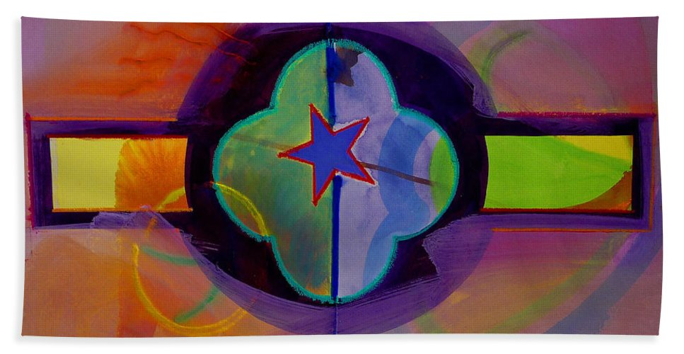 Star Beach Towel featuring the painting The Happy American by Charles Stuart