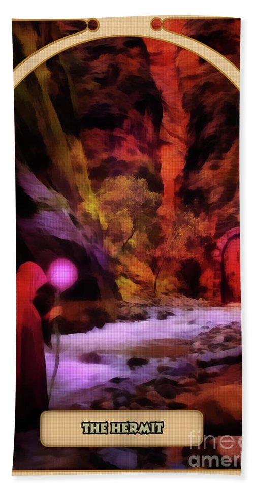 Magic Beach Towel featuring the digital art The Hermit by John Edwards