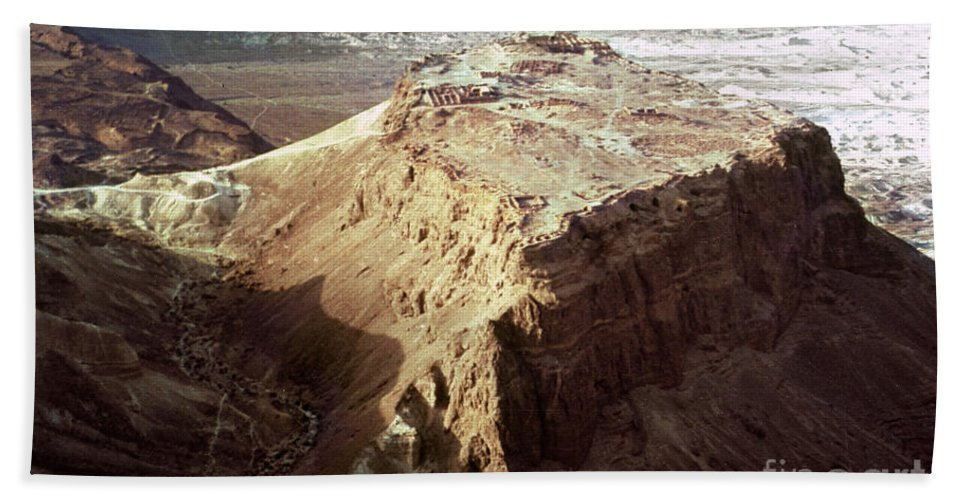 20th Century Beach Towel featuring the photograph The Holy Land: Masada by Granger