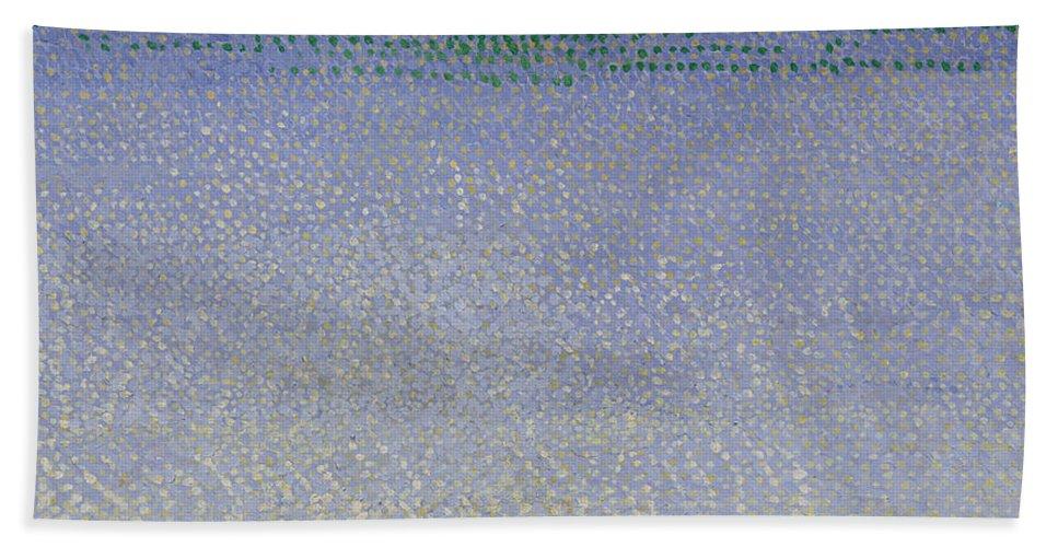 The Iles D'or (the Iles D'hyeres Beach Towel featuring the painting The Iles Dor by Henri Edmond Cross