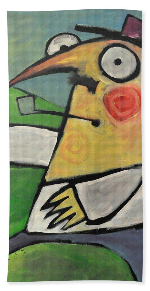 Irish Beach Towel featuring the painting The Irish Rover by Tim Nyberg