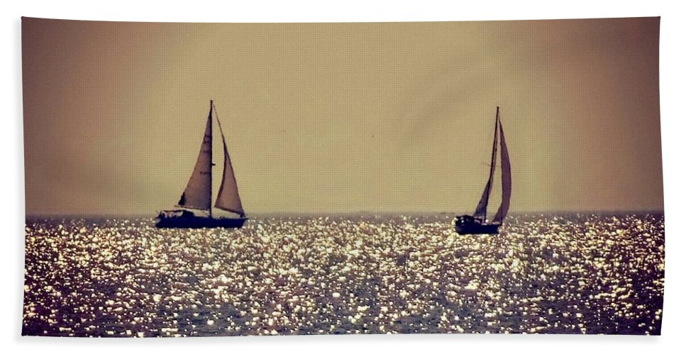 Sailing Beach Towel featuring the photograph The Joy Of Sailing by Aurora Bautista