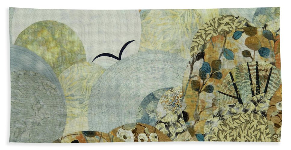 Landscape Beach Towel featuring the tapestry - textile The Joy of Soaring by Linda Beach