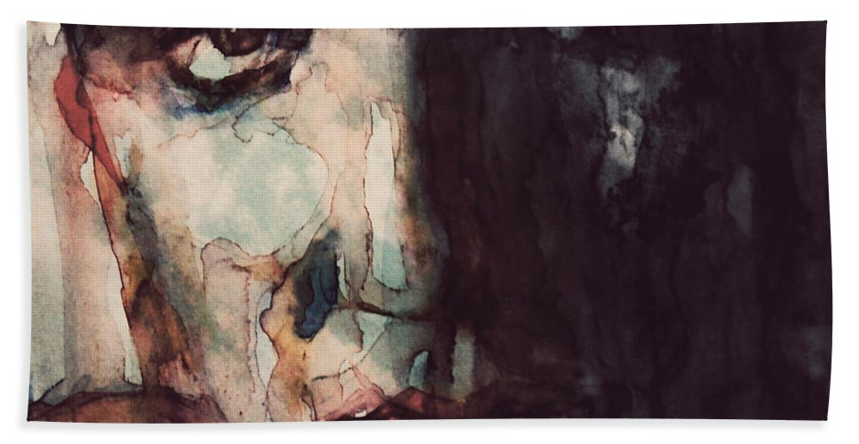 Elvis Beach Towel featuring the painting The King by Paul Lovering