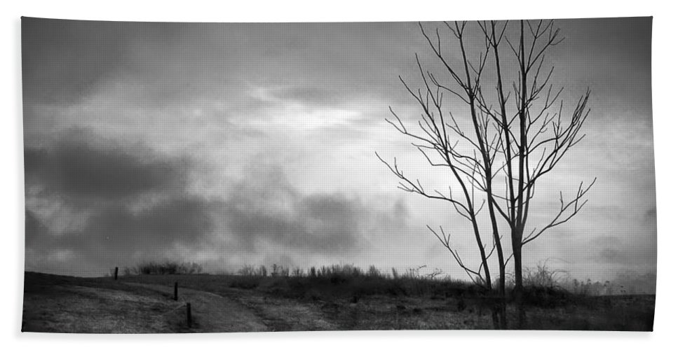 2d Beach Towel featuring the photograph The Last Dawn - Grayscale by Brian Wallace