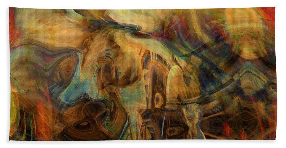The Last Supper Beach Towel featuring the digital art The Last Supper by Linda Sannuti