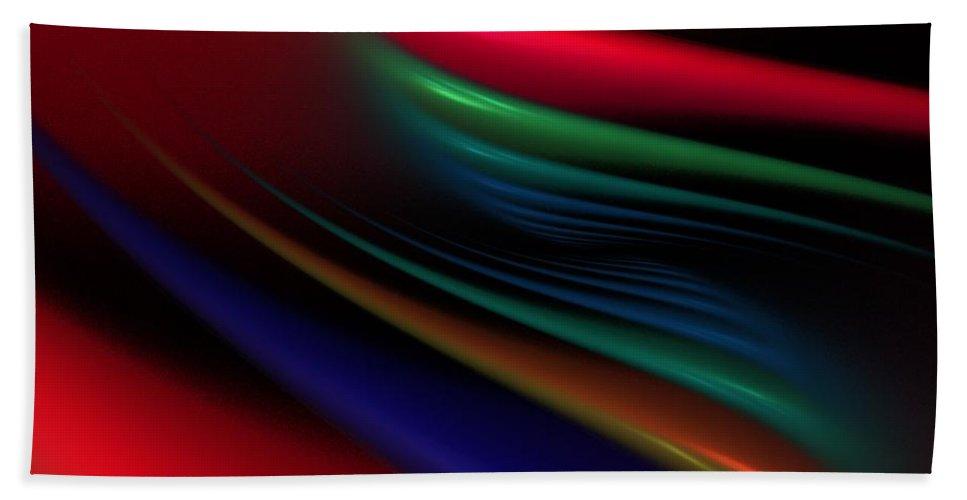 Digital Painting Beach Towel featuring the digital art The Light Fantastic by David Lane