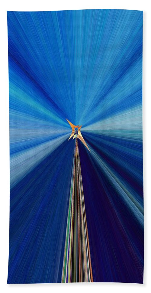 Abstract Beach Towel featuring the digital art The Light Fantastic Speedway by Tim Allen
