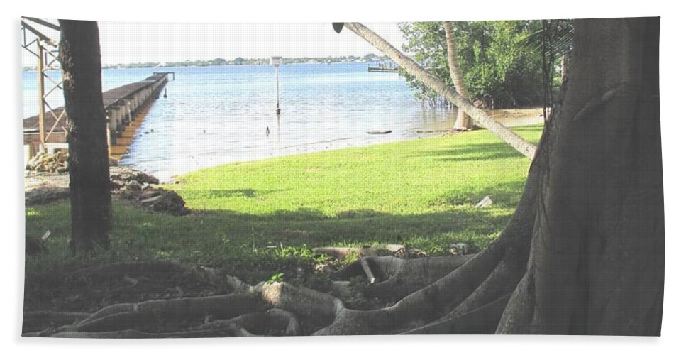Florida Beach Towel featuring the photograph The Long Dock by Ian MacDonald