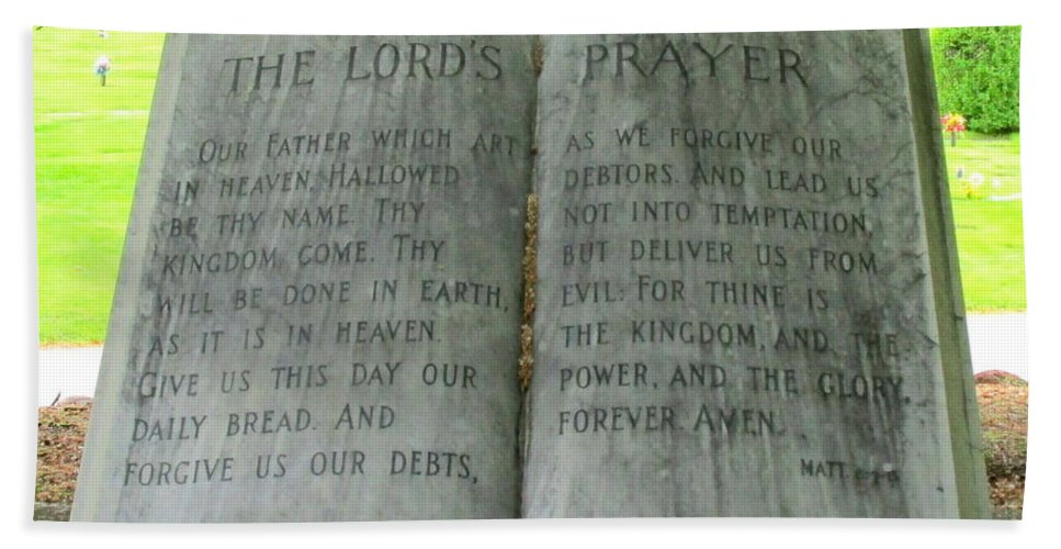 Lord's Prayer Beach Towel featuring the photograph The Lord's Prayer by Randall Weidner