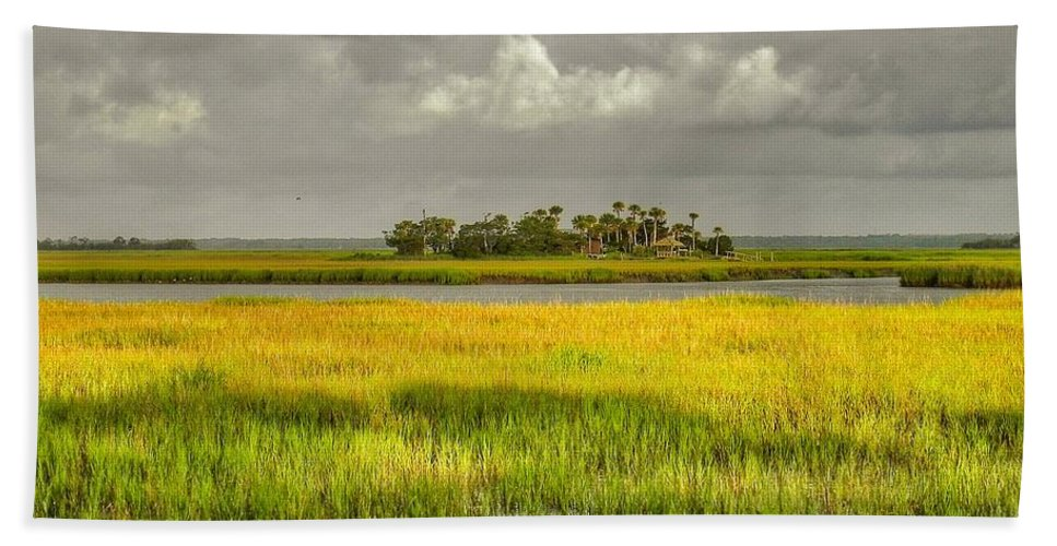 Marsh Beach Towel featuring the photograph The Lovely Low Country by Patricia Greer