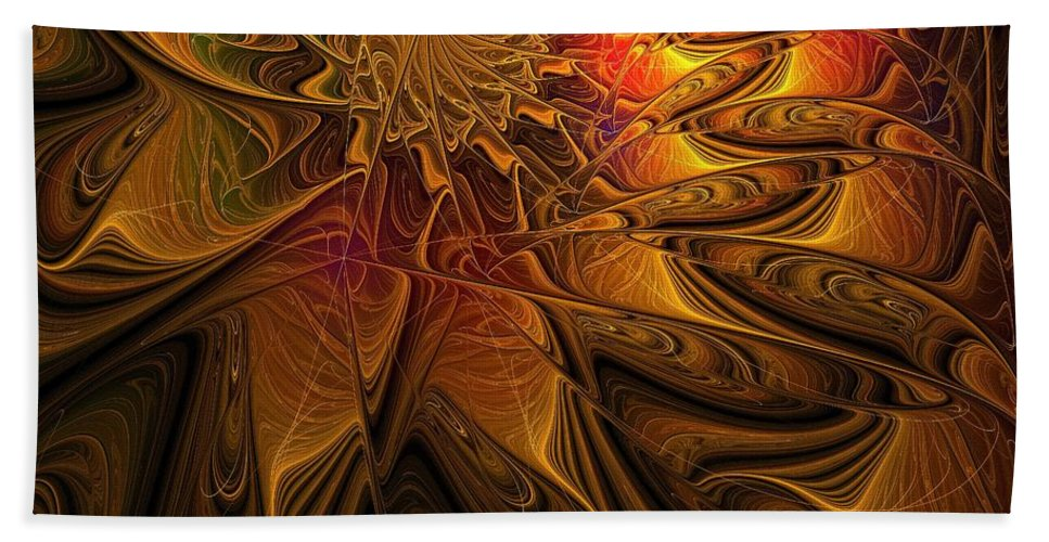Digital Art Beach Towel featuring the digital art The Midas Touch by Amanda Moore