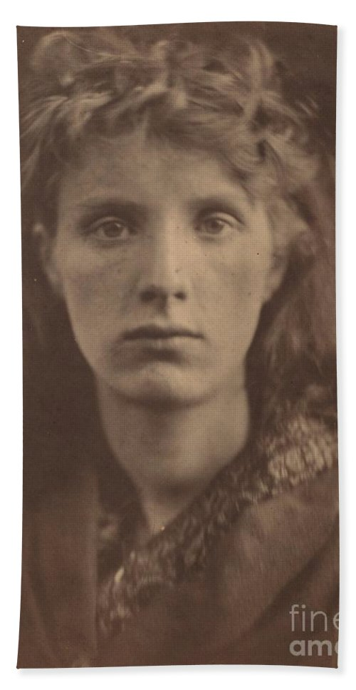 Beach Towel featuring the photograph The Mountain Nymph, Sweet Liberty by Julia Margaret Cameron