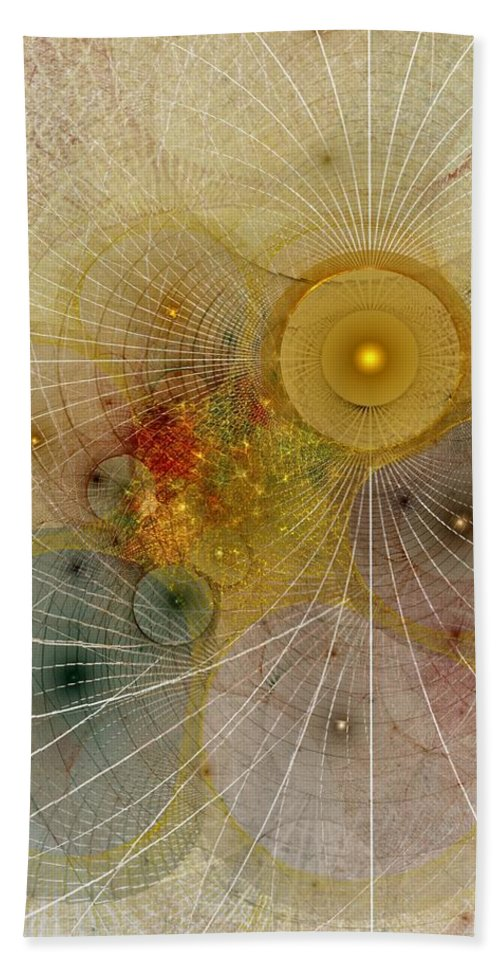 Abstract Beach Towel featuring the digital art The Mourning Of Persephone - Fractal Art by NirvanaBlues