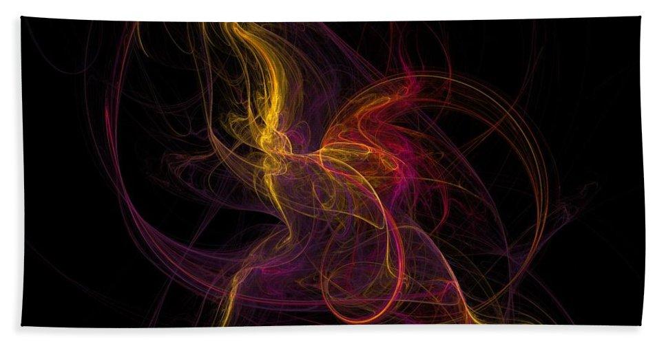 Abstract Digital Photo Beach Towel featuring the digital art The November Dance by David Lane