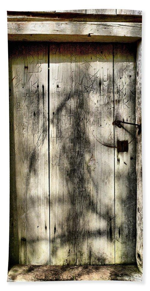 Lehtokukka Beach Towel featuring the photograph The Old Door by Jouko Lehto