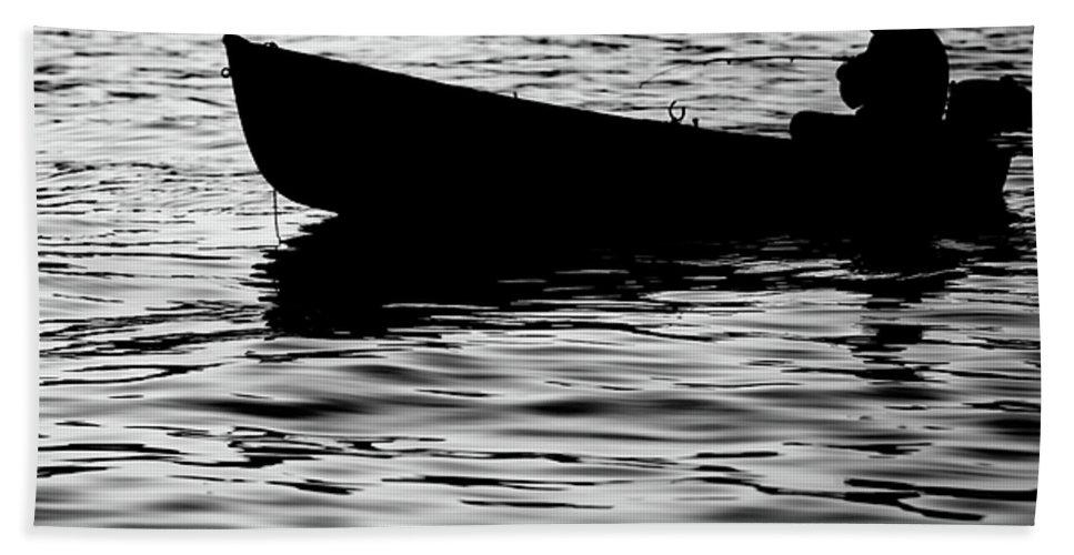 Black Beach Towel featuring the photograph The Old Fishermen by Pedro Cardona Llambias