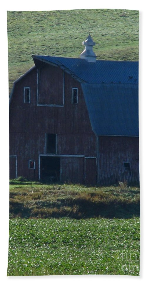 Old Barn Beach Towel featuring the photograph The Old Style by Greg Patzer