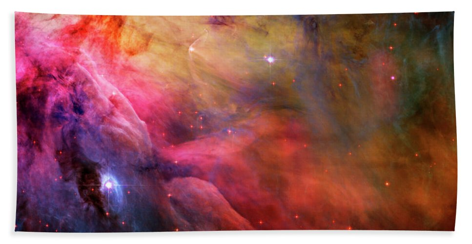 Messier 42 Beach Towel featuring the photograph The Orion Nebula Close Up I by Ricky Barnard
